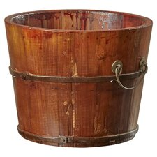 Vintage Decorative Wooden Sink Bucket