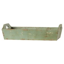 Ferne Painted Wood Tray with Handle
