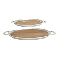 Superior 2 Piece Oval Serving Tray Set