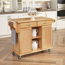 Lili Kitchen Island with Wood Top