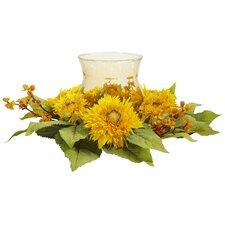 Martineau Silk Golden Sunflower Candle Holder