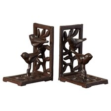 Cast Iron with Bird Book Ends (Set of 2)