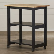 De Soto Kitchen Cart with Butcher Block Top
