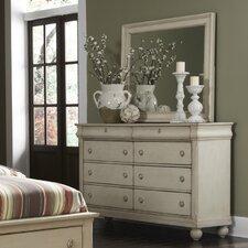 8 Drawer Dresser with mirror