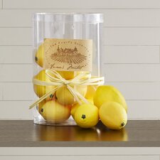 Decorative Lemons Sculpture (Set of 12)