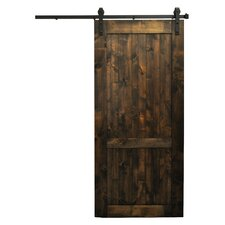 Wood 1-Panel Interior Barn Door