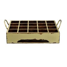 Ira Distressed Rectangular Milk Crate with Iron Handles