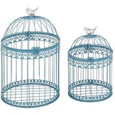 Ethelyn 2 Piece Decorative Bird Cage Set