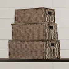 3 Piece Parchment Cord Box Set