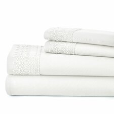 Easter 4 Piece Microfiber Sheet Set with Lace