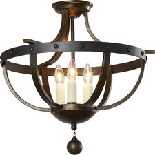 Betty-Jo 3 Light Semi Flush Mount