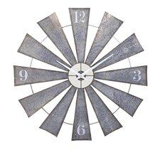 """Oversized 48"""" Metal Windmill Wall Clock"""