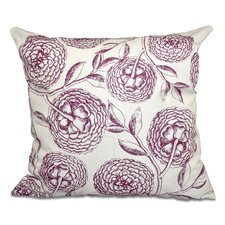 Swan Valley Blooms Antique Flowers Print Throw Pillow