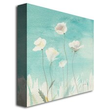 White Poppies Painting Print on Canvas