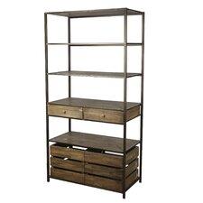 "Storage 70.5"" Accent Shelves Bookcase"