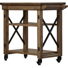 Irwin Kitchen Cart with Wooden Top