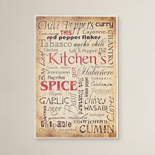 Kitchen and Spice Textual Art Plaque