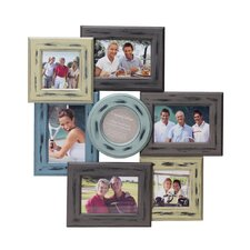 7 Opening Distressed Wood Collage Frame