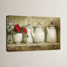 Flower with Pots by Antonio Raggio Photographic Print on Canvas