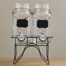 3 Piece 1 Gal Beverage Dispenser Set