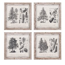 4 Piece Conifer Wall Decor Set