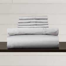 600 Thread Count 6-Piece Egyptian Quality Cotton Sateen Deep Pocket Sheet Set