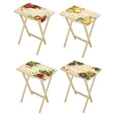 Pauli 4 Piece TV Tray Set