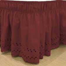 Karlisa Wrap Around Eyelet Ruffled 140 Thread Count Bed Skirt