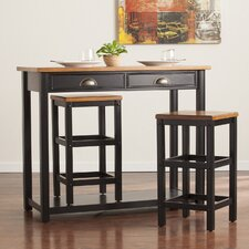 Carey 3 Piece Pub Table Set