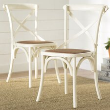 Essie Cross Back Side Chair (Set of 2)