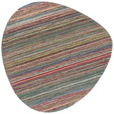 Jeanpierre Hand-Loomed Red/Green Area Rug