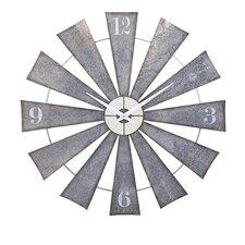 """48"""" Ward Metal Windmill Wall Clock"""