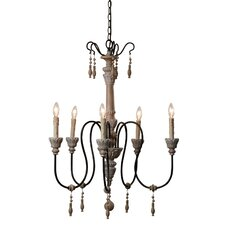 Camille 5 Light Candle Chandelier