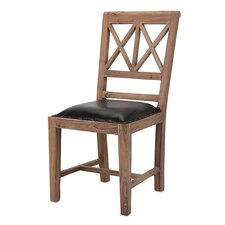 Becka Wood and Leather Side Chair
