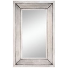 Rectulangular Wall Mirror with Silver Finish