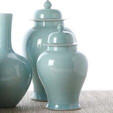 2 Piece Covered Temple Decorative Urn Set