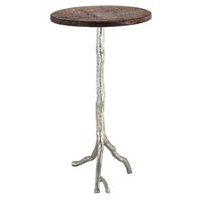 Coline Wood/Nickel End Table