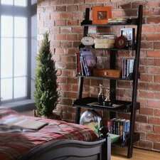 "White Plains 76"" Leaning Bookcase"