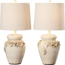 """Champaign 24"""" H Table Lamp with Empire Shade (Set of 2)"""