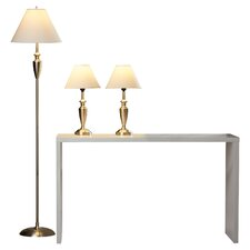 Castine 3 Piece 63.5'' H Table Lamp with Empire Shade Set