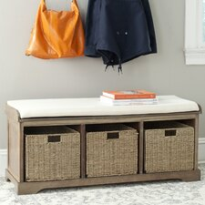 Seminole Wood Storage Hallway Bench