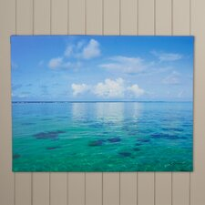 'Lagoon & Reef' by George Zucconi Photographic Print on Wrapped Canvas