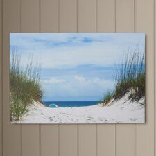 Ocean Path Photographic Print on Wrapped Canvas