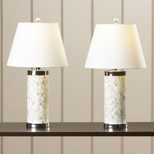 """Kendale Lakes 28.5"""" Table Lamp with the Drum Shade (Set of 2)"""
