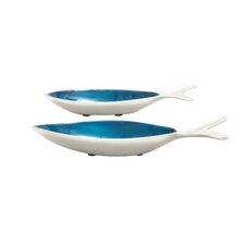 Lauderdale Lakes 2 Piece Classy Fish Serving Bowl Set