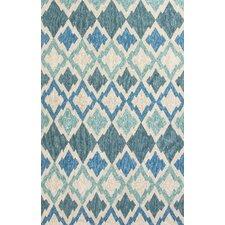 McLellen Hand-Woven Blue/Ivory Indoor/Outdoor Area Rug