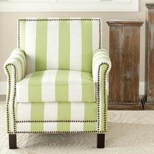 Indian Harbour Arm Chair in Green with White Stripe