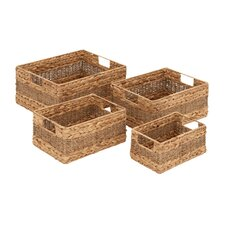 4 Piece Sea Grass Basket Set