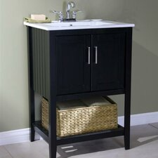 "Oliver 24"" Single Bathroom Vanity Set with Basket"