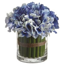 Hydrangea Bouquet in Glass Vase